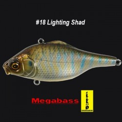 Megabass Vibration-X Ultra RI #18 Lighting Shad
