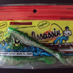 "Bass Assassin Turbo Shad 4"" #382 Greenback Shiner"