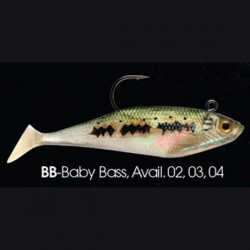 Wildeye Swim Baits Shad WSS04 BB Baby Bass