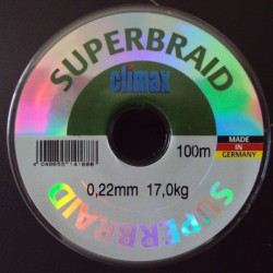 Climax Super Braid #Grey 0,22 mm 37lb 100 m