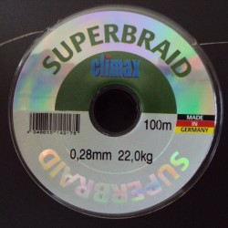 Climax Super Braid #Grey 0,28 mm 48lb 100 m
