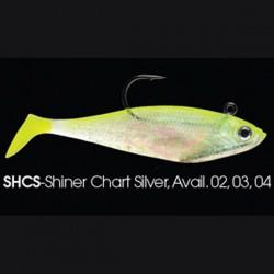 Wildeye Swim Baits Shad WSS04 SHCS Shiner Chartreuseshad Silver