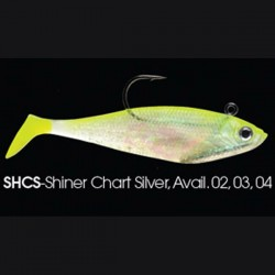 Wildeye Swim Baits Shad WSS06 SHCS Shiner Chartreuse Silver
