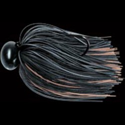 Lucky Craft Graphite Football Jig 1/2oz #833 Black/ Brown