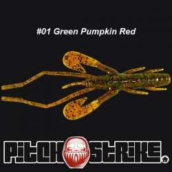Pitch and Strike Zelus Craw #001 Green Pumpkin Red