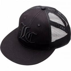 Lucky Craft Flat Pop Cap - Center - Black and Blank