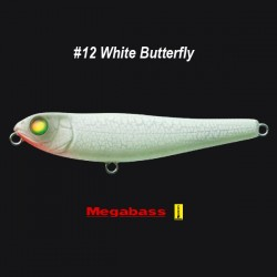 Megabass Dog-X (W) col.12 White Butterfly
