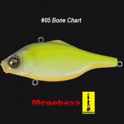Megabass Vibration-X Ultra Bone Knocker #05 Bone Chart