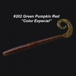 "Shakey Tail 6'' col.202 Green Pumpkin Red ""Color Especial"""