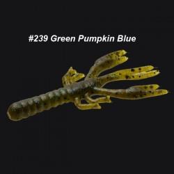 Lil' Critter Craw 3 1/4'' col.239 Green Pumpkin Blue