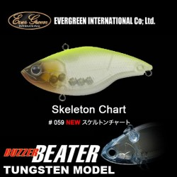 Ever Green Buzzer Beater Tungsten #59 Skeleton Chart