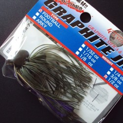 Lucky Craft Graphite Football Jig 3/8oz #045 Watermelon/ Purple
