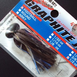 Lucky Craft Graphite Football Jig 3/8oz #050 GreenPumpkin/ Blue