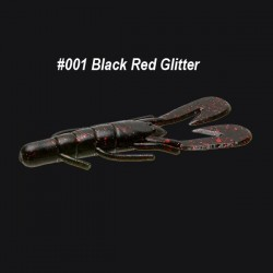Zoom Ultravibe Speed Craw col.001 Black Red Glitter