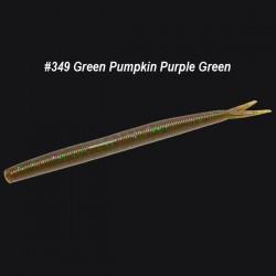 Zoom Fluke Stick #349 Green Pumpkin Purple Green