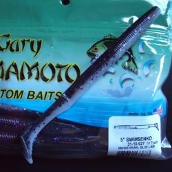 "Yamamoto 5"" Swim Senko (31-10-927) Smoke w/ Purple holo./031"