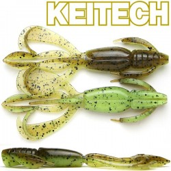 "Keitech Crazzy Flapper 3.6"" #401 Green Pumpkin/ Chart"