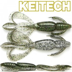 "Keitech Crazzy Flapper 3.6"" #460 Silver Flash Craw"