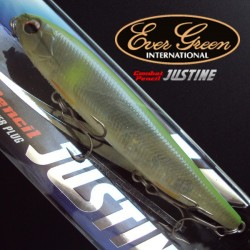 Evergreen Combat Lures Justine #295 Lime Skeleton Ayu