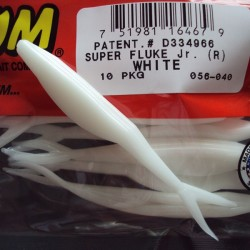 "Super Flukes Jr. 4'' col.040 White ""Color Especial"""