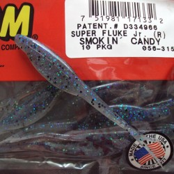 "Super Flukes Jr. 4'' col.315 Smoking Candy ""Color Especial"""