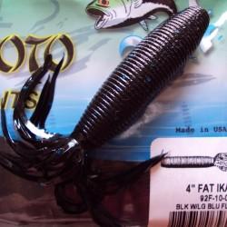 4'' Fat Ika (92F-10-021) Black w/ lg Blue