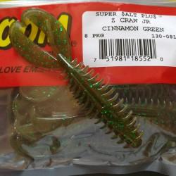 """Zoom Z-Craw Jr 081 Cinnamon Green """"Special Color"""""""