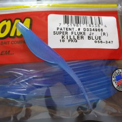 "Super Flukes Jr. 4'' col.347 Killer Blue ""Color Especial"""
