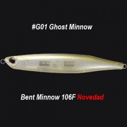 OSP Bent Minnow 106F col.G01 Ghost Minnow