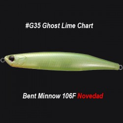 OSP Bent Minnow 106F col.G35 Ghost Lime Chart