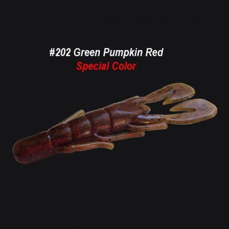 Zoom Ultravibe Speed Craw col.202 Green Pumpkin Red