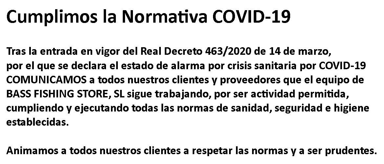 Cumplimos la Normativa COVID-19