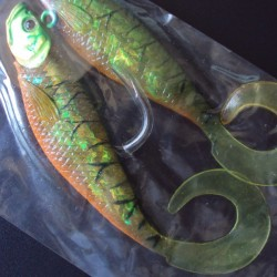 Teeth Twistshad Assassin 10 cm #007 Fire Tiger