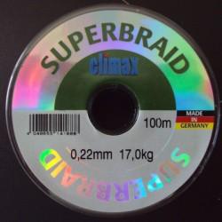 Climax Super Braid #Grey 0,22 mm 37lb 100 m