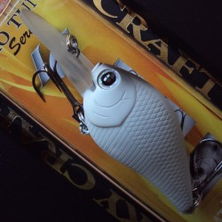 Lucky Craft Flat Mini DR #078 White and Gray