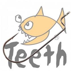 Teeth Anzuelo Recto Forjado #1/0 - 5 pack