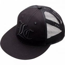 Lucky Craft Flat Pop Cap - Center - Black and Blank