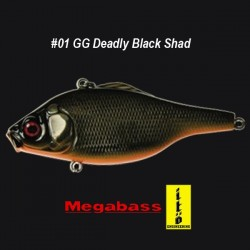 Megabass Vibration-X Ultra RI #01 GG Deadly Black Shad