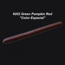 "Zoom Fish Doctor 4"" col.202 Green Pumpkin Red ""Color Especial"""