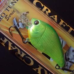 Lucky Craft Flat Mini DR #123 Ghost Lime Chart