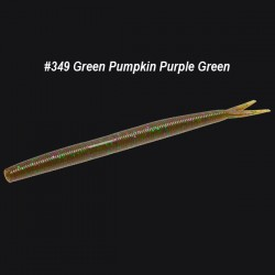 Zoom Fluke Stick #349 Green Pumpkin Purple Green