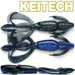 """Keitech Crazzy Flapper 3.6"""" #413 Black Blue"""
