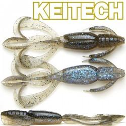 """Keitech Crazzy Flapper 3.6"""" #462 Electric Smoke Craw"""