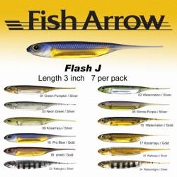 """Fish Arrow Flash J 3"""" #01 Green Pumpkin/ Silver"""