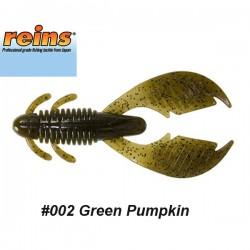 """Reins AX Craw 3.5"""" #002 Green Pumpkin"""