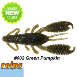 """Reins Ring Craw 3"""" #002 Green Pumpkin"""