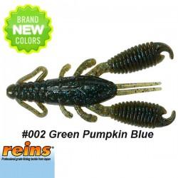 """Reins Ring Craw 3"""" #005 Green Pumpkin Blue"""