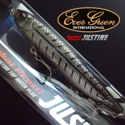 Evergreen Combat Lures Justine #619 Black Bone