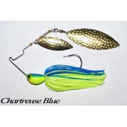 LongastBait 4Wind Spinnerbait 3/4oz 07 Chartreuse Blue