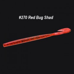 Zoom Ultra-Vibe Speed Worm 6'' #270 Red Bug Shad